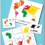 Montessori Continents 3 Part Cards And World Map Printables   Montessori World Map Free Printable