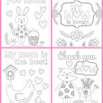 Mother's Day Coloring Pages   Free Printables   Happiness Is Homemade   Free Printable Mothers Day Coloring Cards