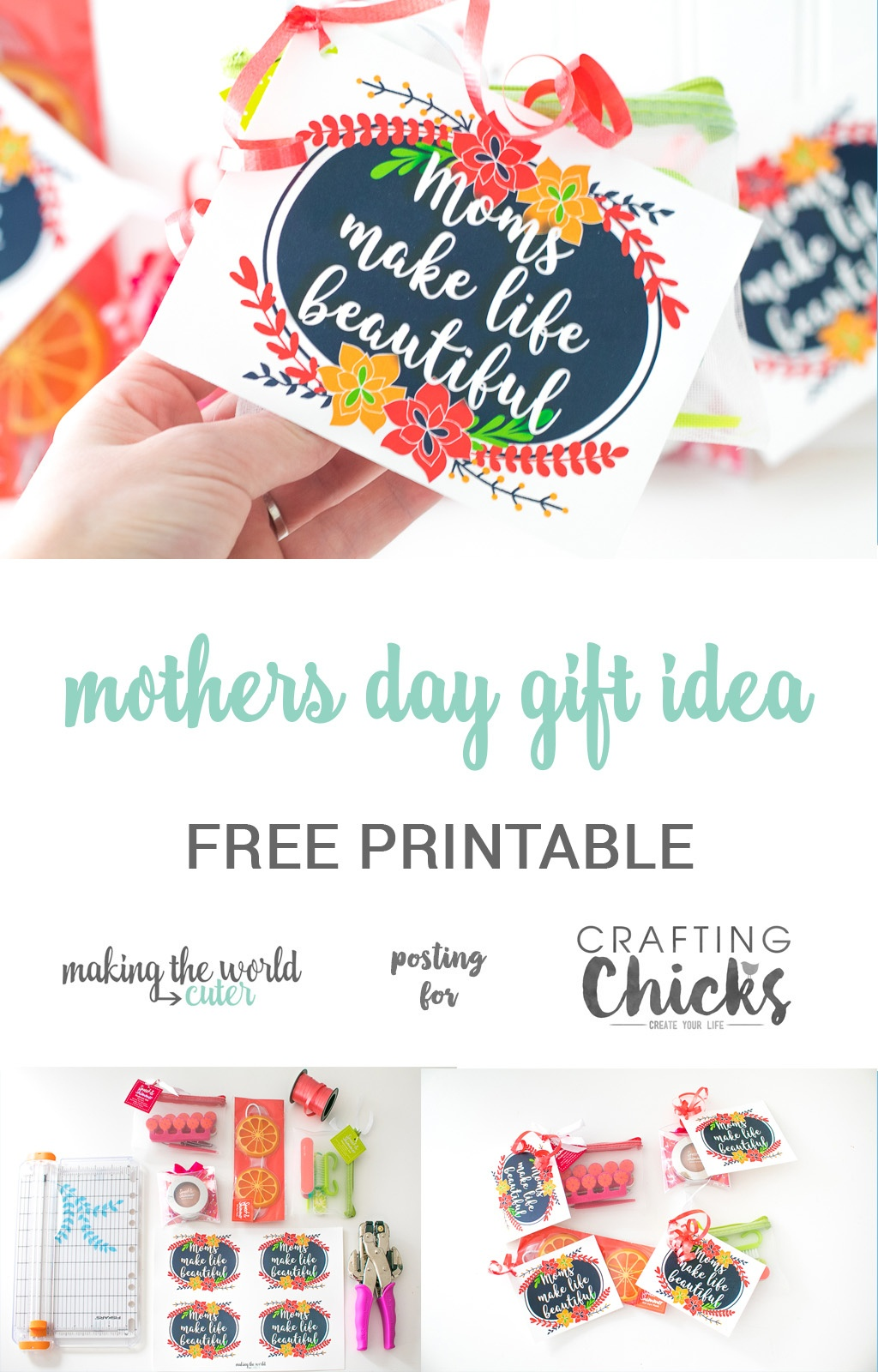 Mothers Day Gift Idea For Friends With Free Printable - Free Printable Mothers Day Gifts