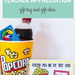 Movie Teacher Appreciation Ideas Free Printable Tag   Free Popcorn Teacher Appreciation Printable