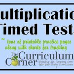 Multiplication Timed Tests   The Curriculum Corner 123   Free Printable Multiplication Speed Drills