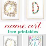 Name Art And Alphabet Printables {Free Printable Art}   Free Printable Art