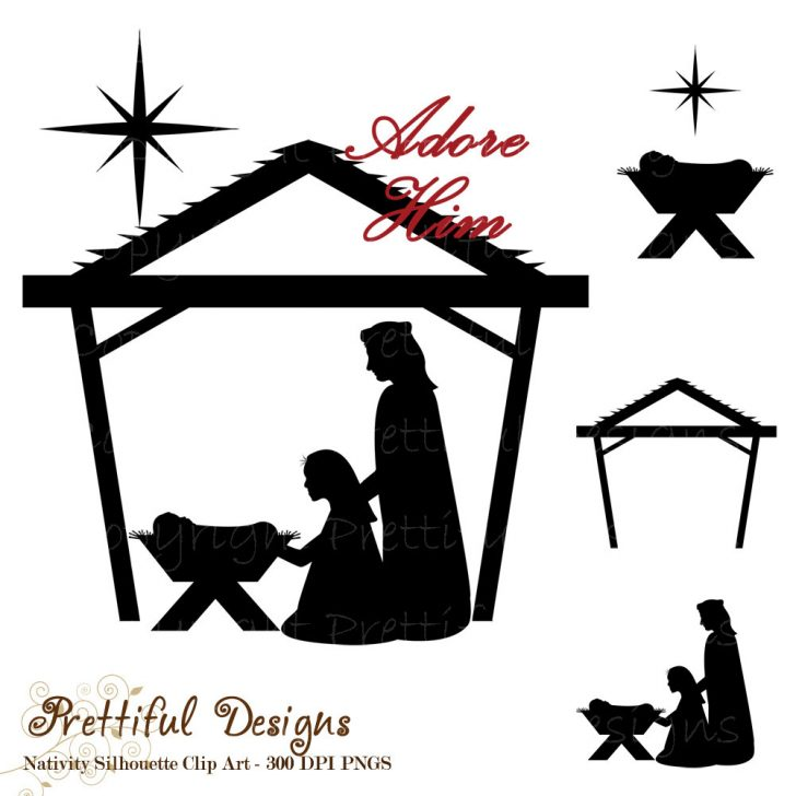 Free Printable Nativity Silhouette
