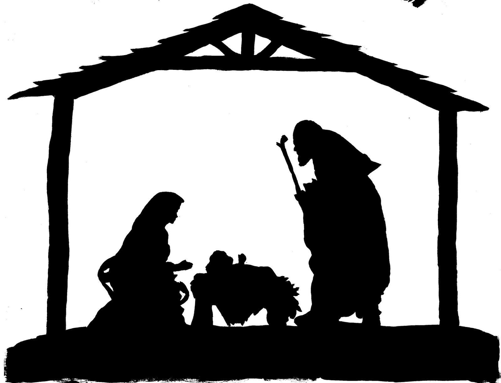 Nativity Silhouette Free Nativity Silhouette Clipart - Wikiclipart - Free Printable Nativity Silhouette