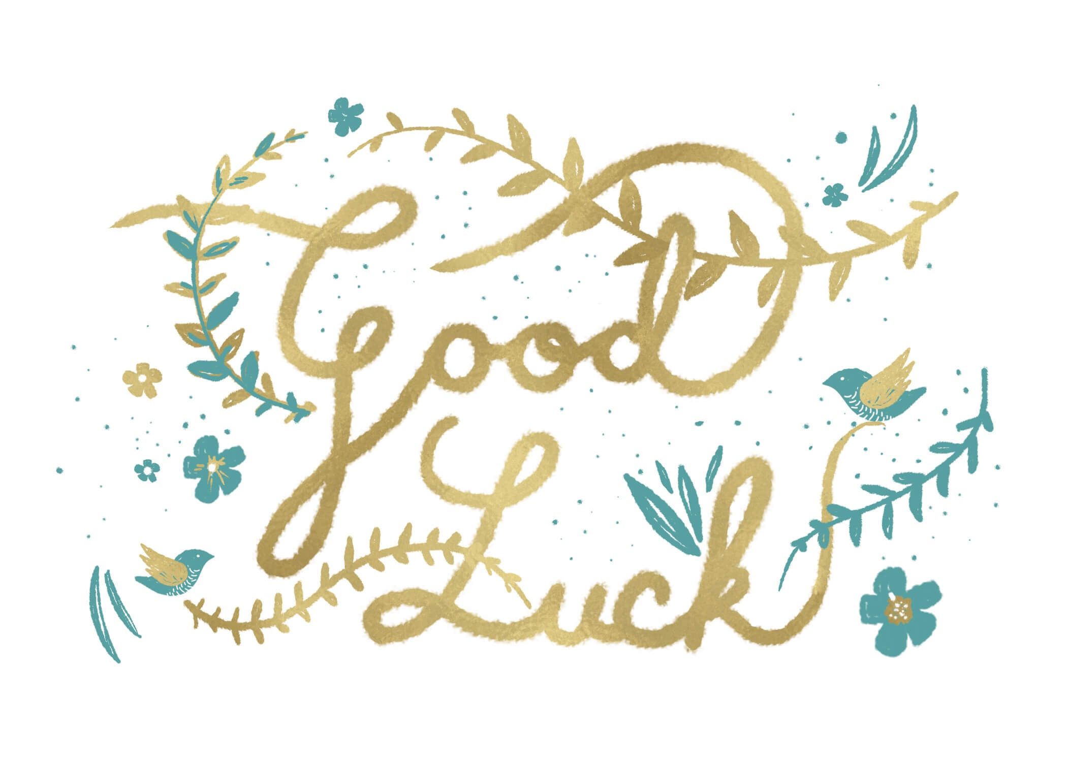 Natural Luck - Good Luck Card (Free)   Greetings Island - Free Printable Good Luck Cards