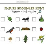 Nature Scavenger Hunt And Summer Adventures || Free Printable   Free Printable Scavenger Hunt