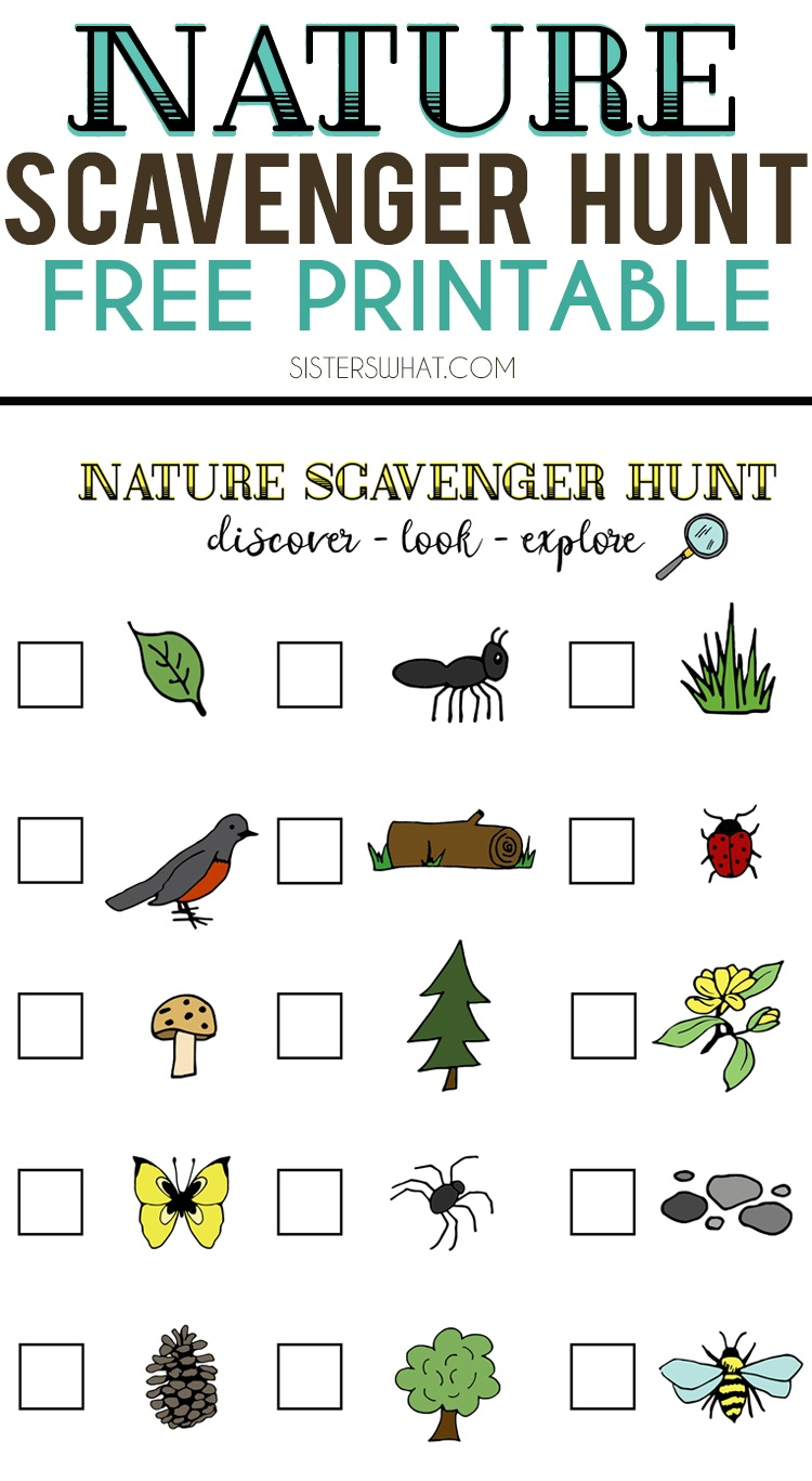 Nature Scavenger Hunt And Summer Adventures || Free Printable - Free Printable Scavenger Hunt