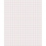 New 2015 09 17! 0.5 Cm Graph Paper With Red Lines (A4 Size) Math   Cm Graph Paper Free Printable