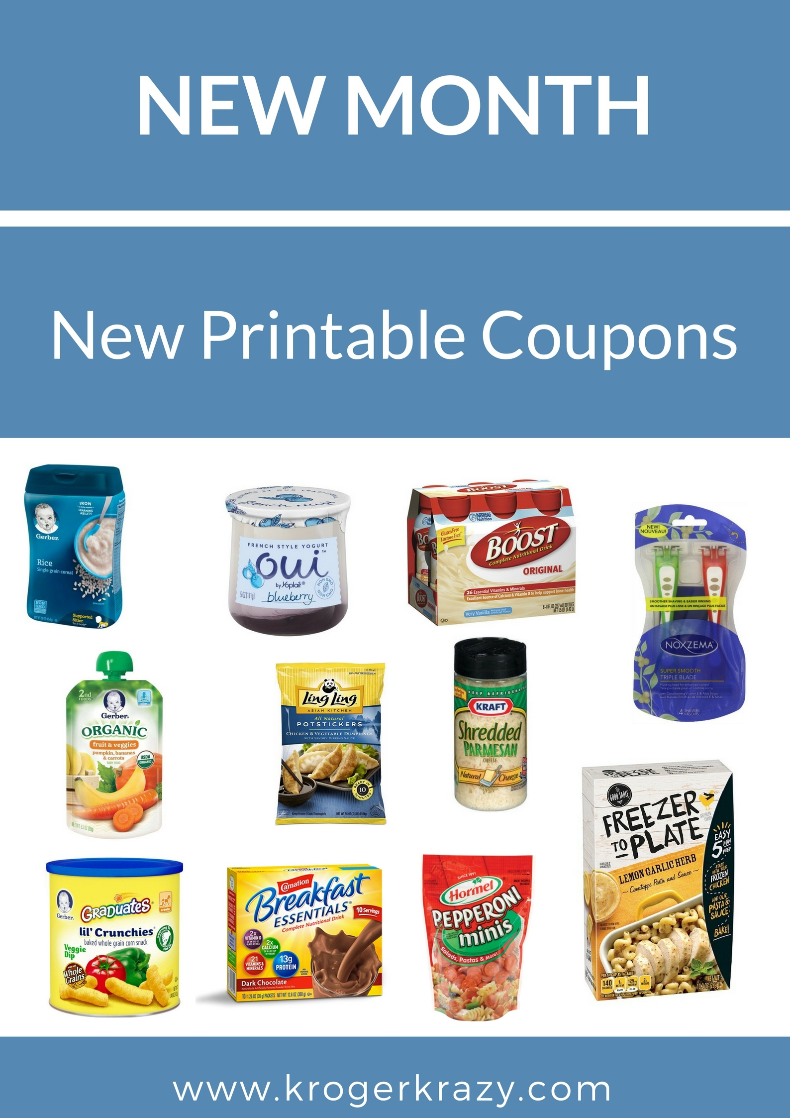 New Month! New Printable Coupons! Kraft, Post, Gerber, Noxzema - Free Printable Kraft Food Coupons