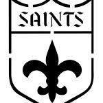 New Orleans Saints Pumpkin Stencils | Silhouette | Pumpkin Stencil   Printable Nfl Pumpkin Carving Patterns Free
