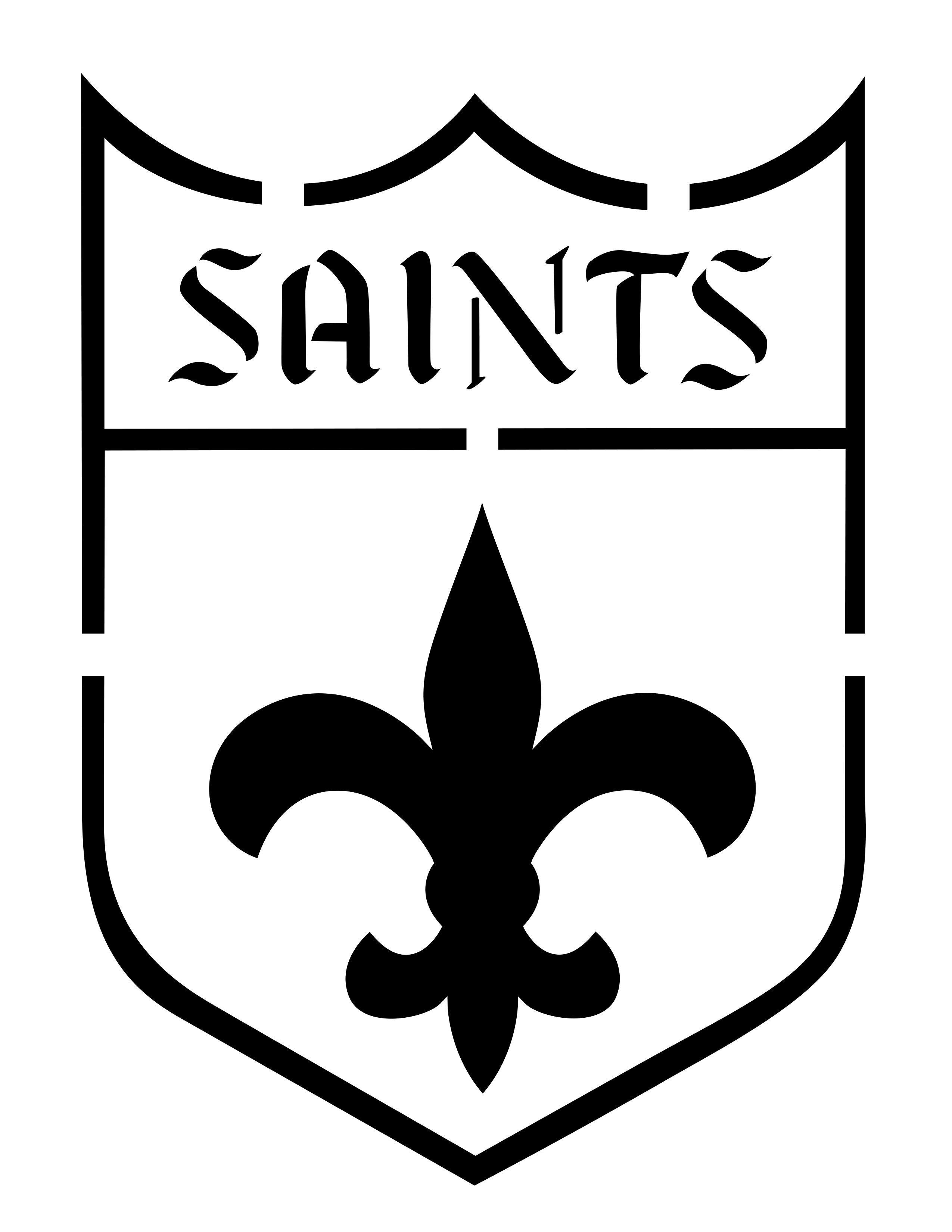 New Orleans Saints Pumpkin Stencils | Silhouette | Pumpkin Stencil - Printable Nfl Pumpkin Carving Patterns Free