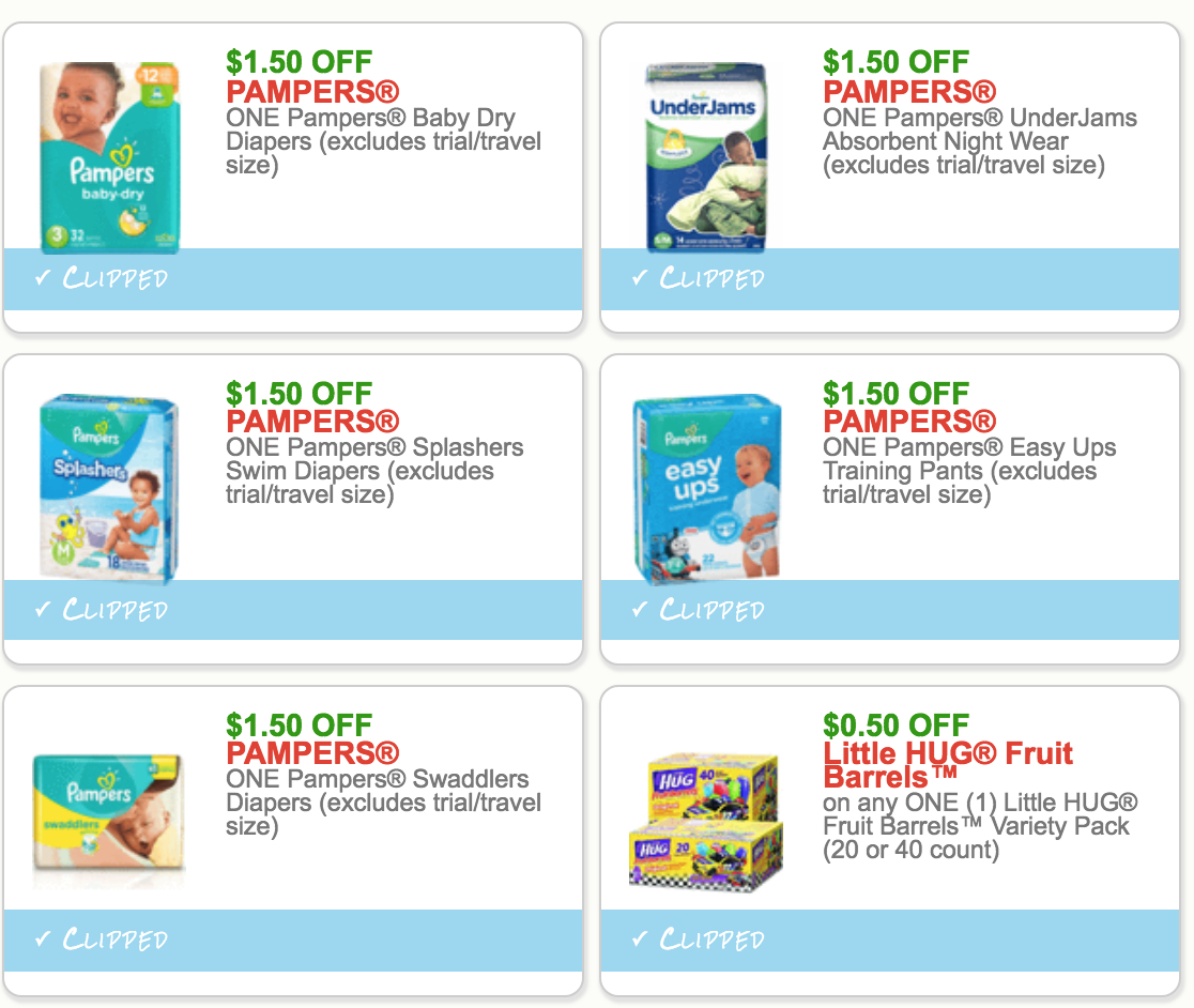 New Pampers & Baby Printable Coupons - Free Printable Coupons For Pampers Pull Ups