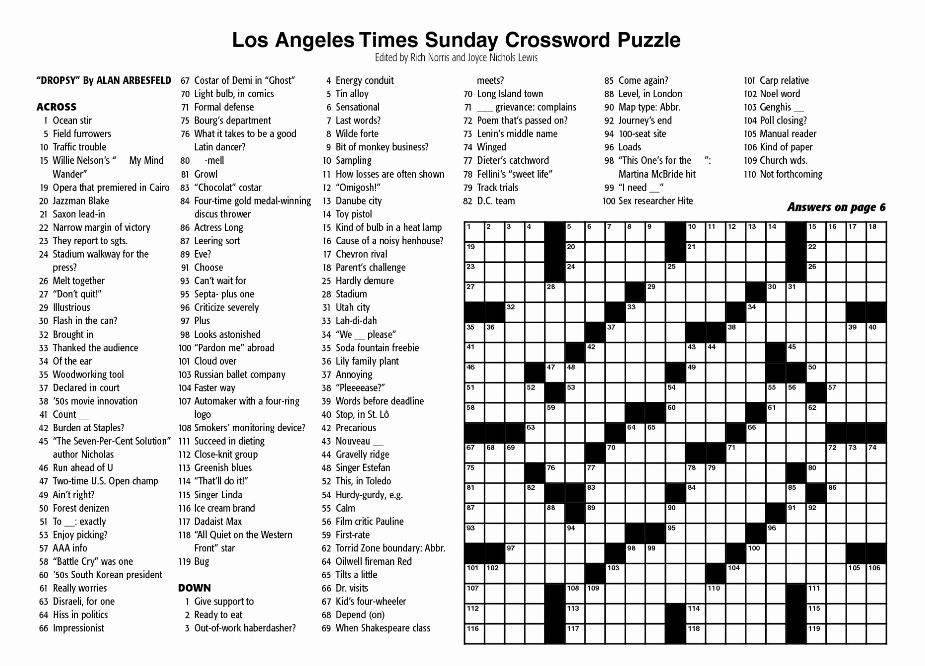 New York Times Sunday Crossword Printable – Rtrs.online - New York Times Crossword Printable Free