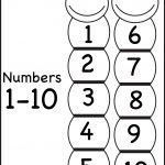 Number Chart – 1 10 / Free Printable Worksheets – Worksheetfun   Free Printable Number Chart 1 10
