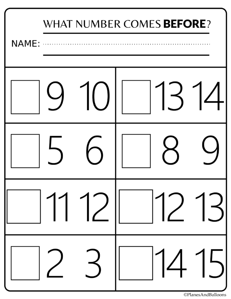 Number Order Kindergarten Free Printable Worksheets: Numbers 1-20 - Free Printable Numbers 1 20 Worksheets