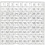 Number Sheet 1 100 To Print | Math Worksheets For Kids | 100 Number   Free Printable Number Chart 1 100