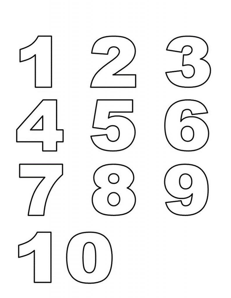 Numbers 1-10 Preschool Printables List | School Stuff | Numbers - Free Printable Bubble Numbers