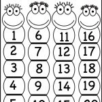 Numbers 1 20 | Printable Worksheets | Numbers Preschool, Preschool   Free Printable Numbers 1 20 Worksheets