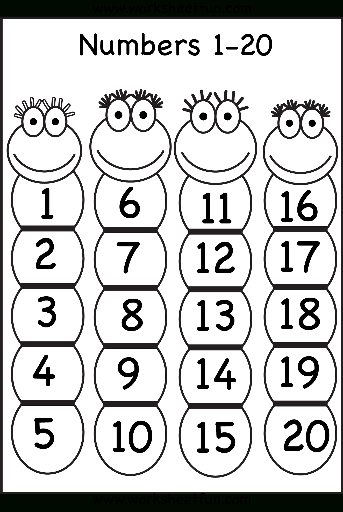 Numbers 1-20 | Printable Worksheets | Numbers Preschool, Preschool - Free Printable Numbers 1 20 Worksheets