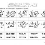 Numbers 11 20 Worksheet   Free Esl Printable Worksheets Madeteachers   Free Printable Numbers 1 20 Worksheets
