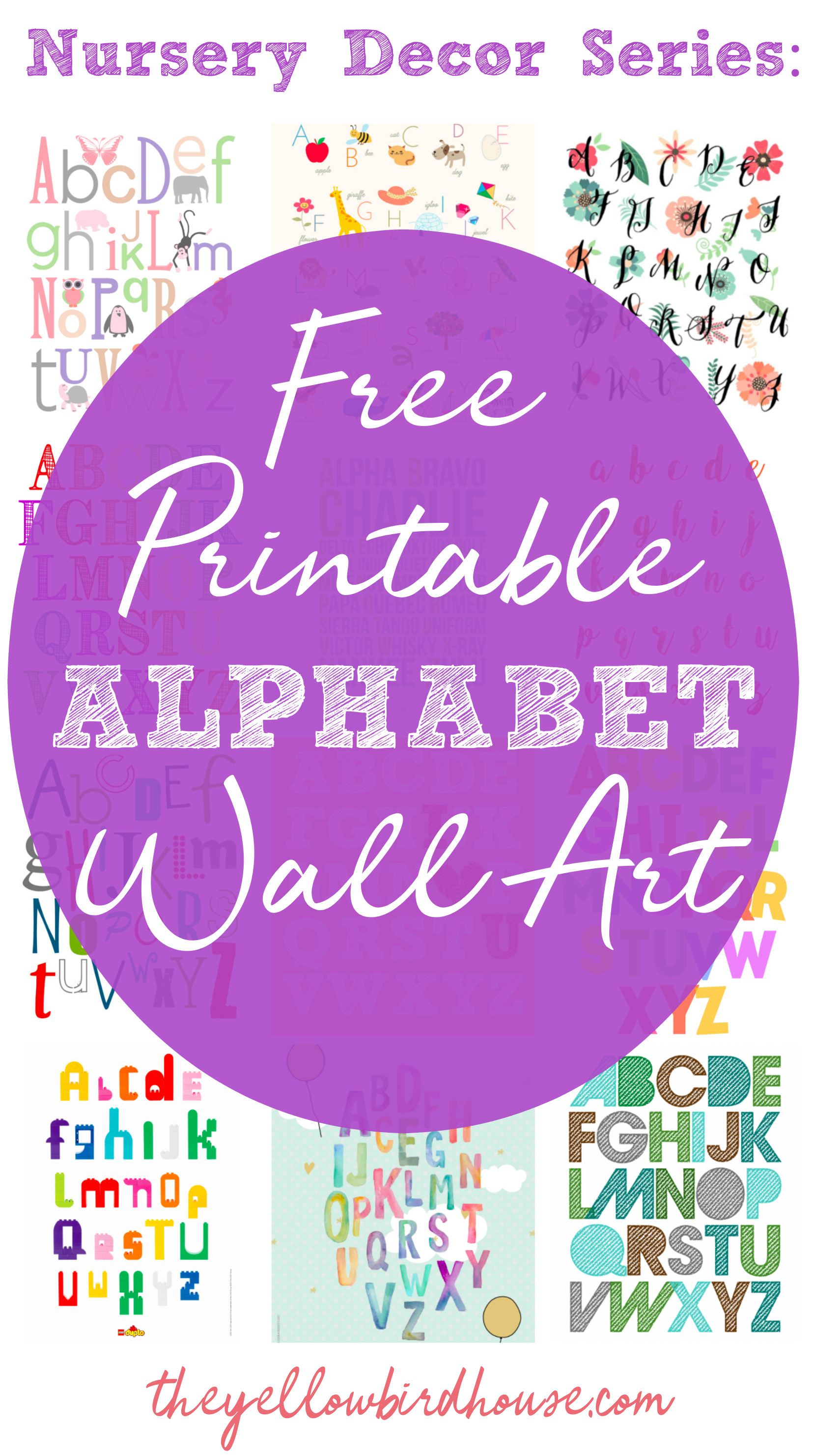 Nursery Decor Series: 19 Free Printable Alphabet Wall Art Pieces - Free Printable Decor