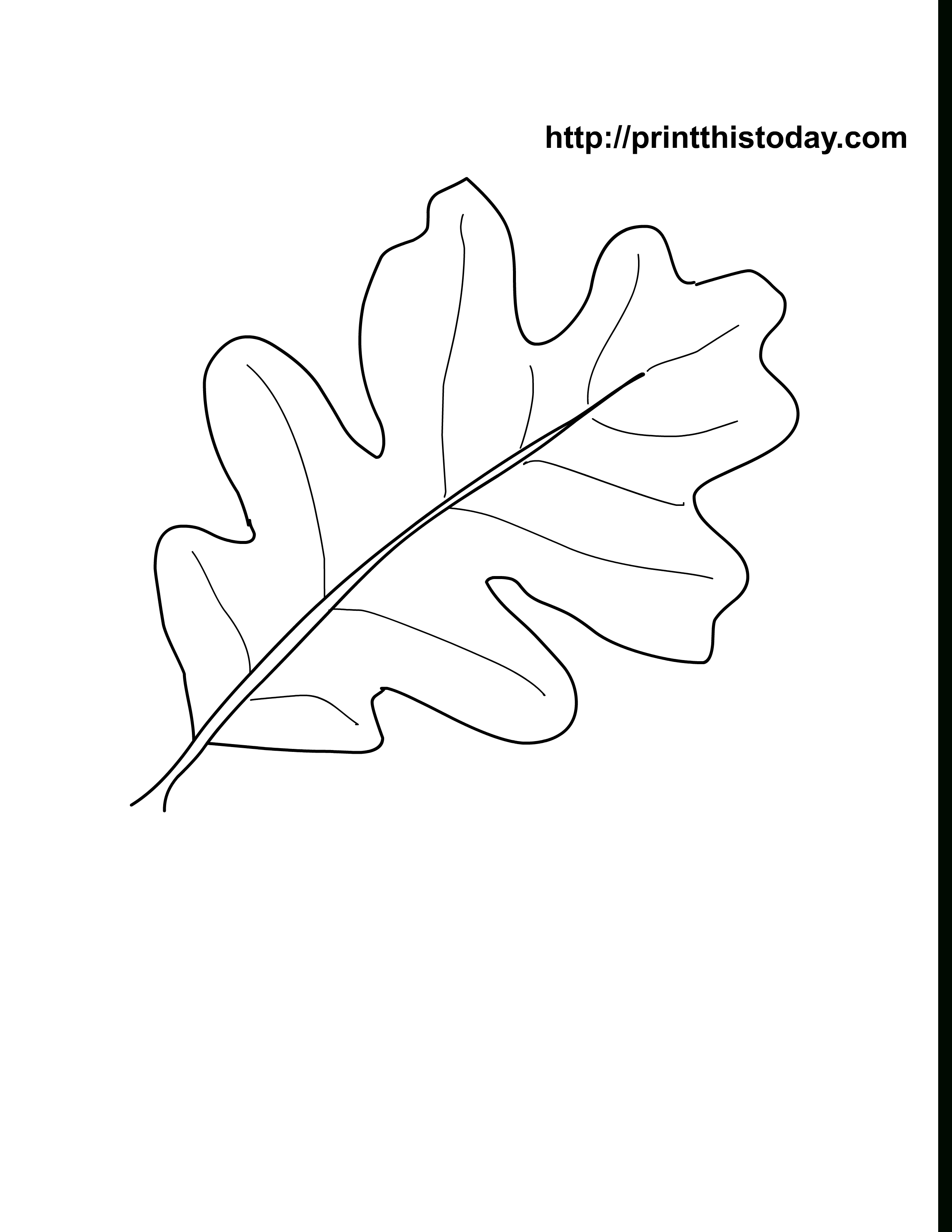 Oak Leaves Coloring Pages Printable | Craft Ideas | Leaf Coloring - Free Printable Leaves