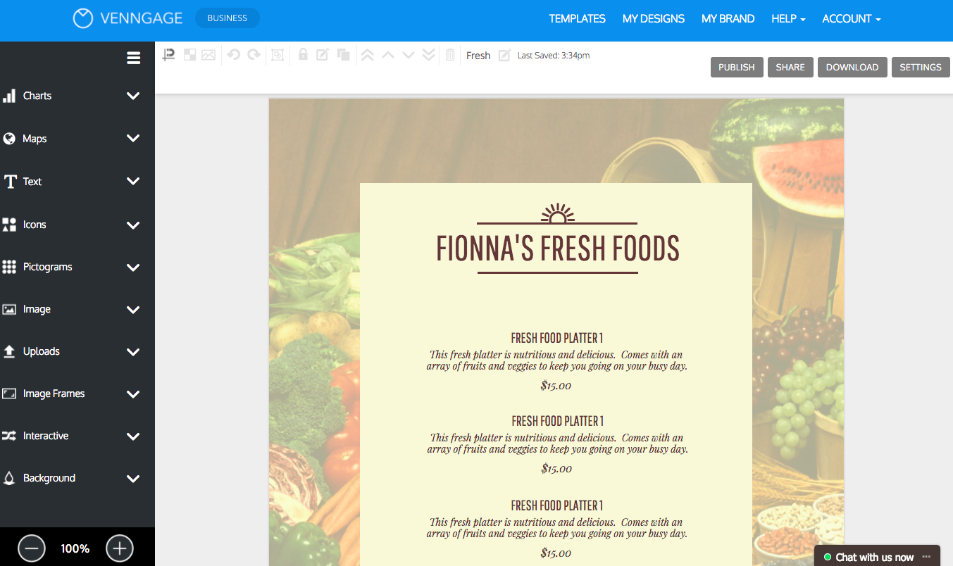 Online Menu Maker - Make A Menu With Venngage - Create A Menu Free Printable