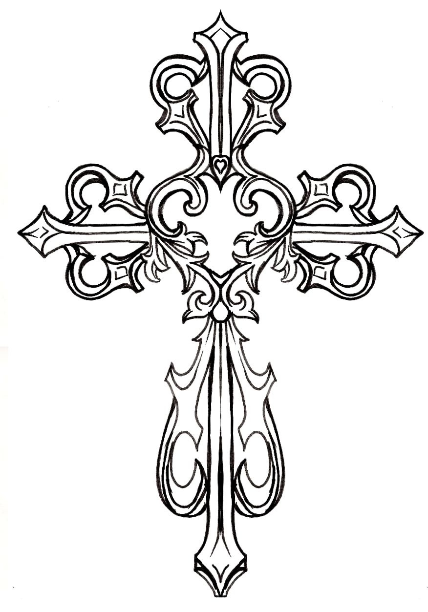 Ornate Cross Clipart #1 | Graphics & Printables | Tattoos, Cross - Free Printable Cross Tattoo Designs