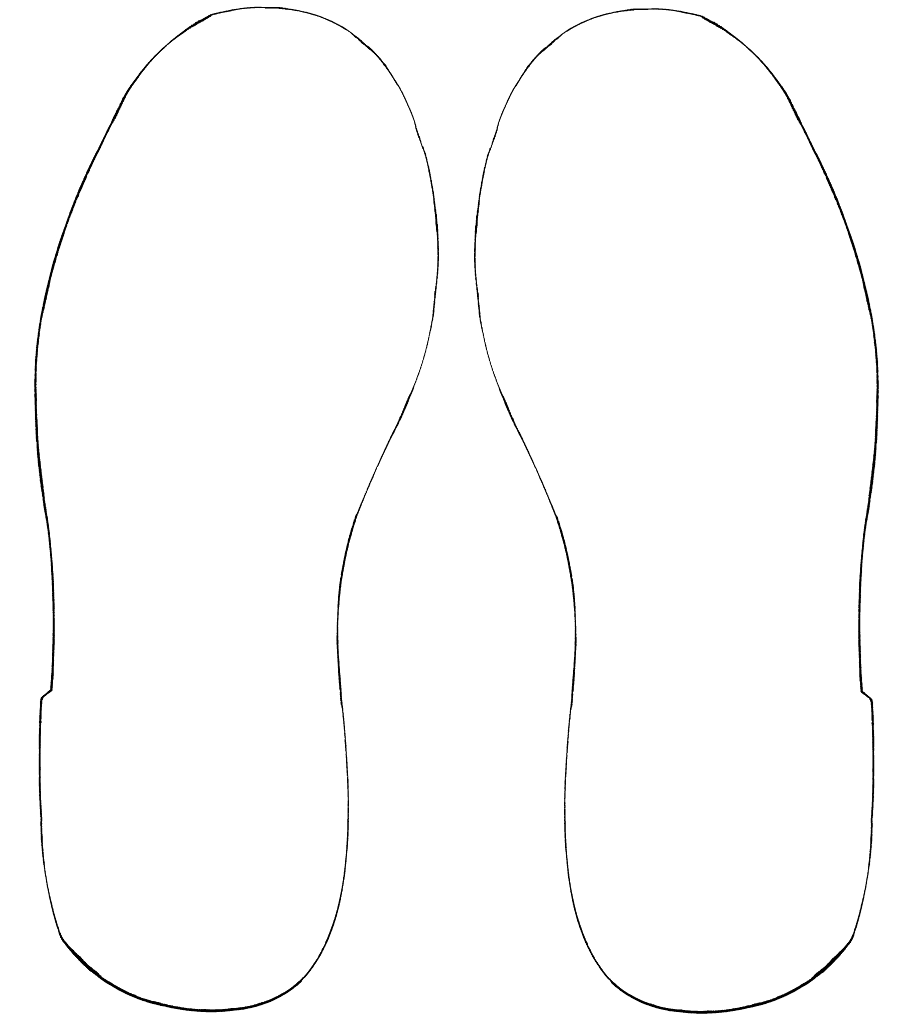 Outline Of A Shoe | Free Download Best Outline Of A Shoe On - Free Printable Shoe Print Template