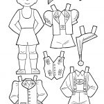 Outlines Of Dress Up Dolls Different Colountries | Paper Doll Black   Free Printable Paper Dolls From Around The World