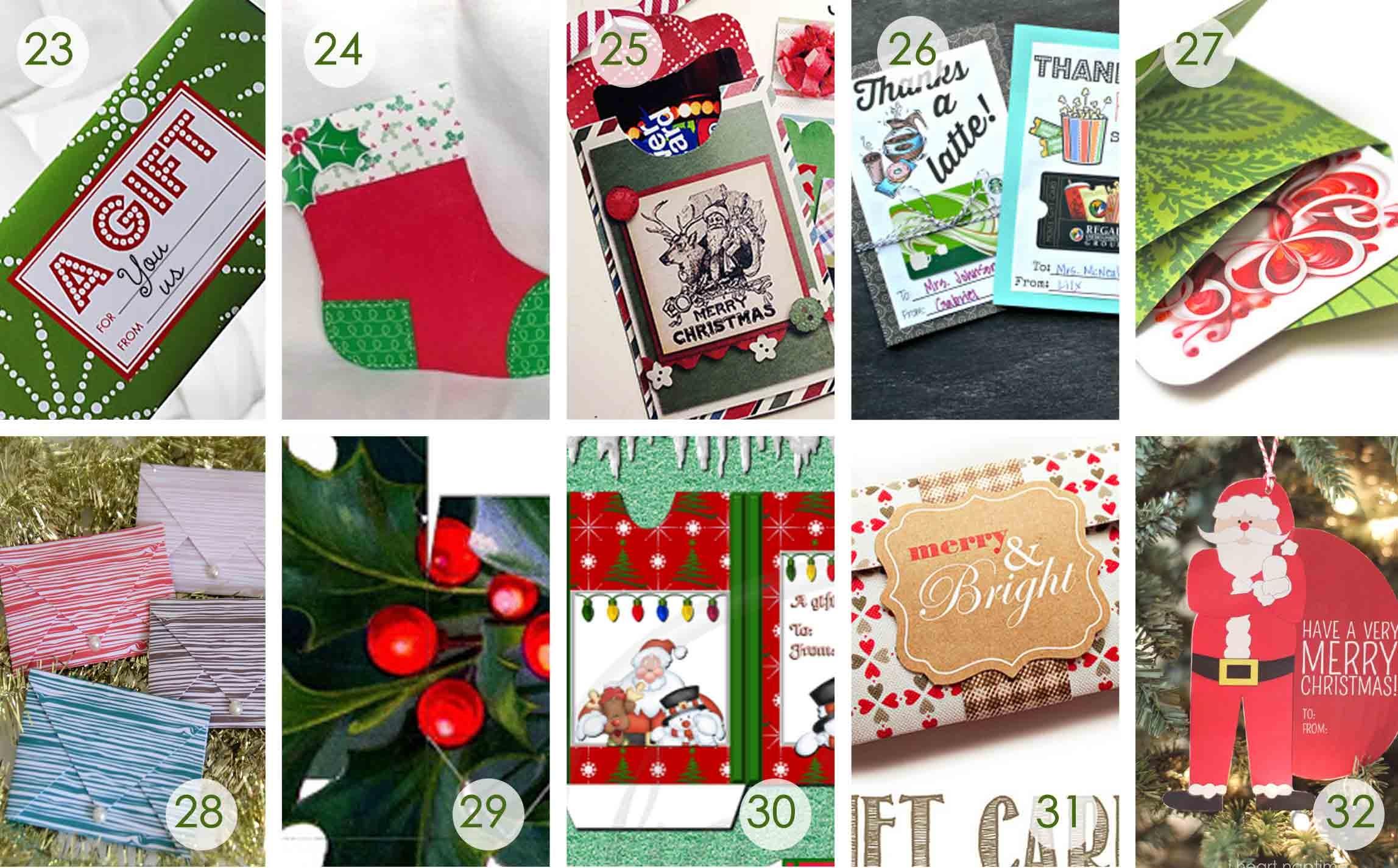 Over 50 Printable Gift Card Holders For The Holidays | Gcg - Free Printable Christmas Money Holders