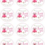 Owl Birthday Party With Free Printables | Cabochon | Pinterest   Free Printable Thank You Tags For Birthday Favors