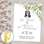 Panda Bear Birthday Party Invitation Zoo Animal Invitation | Etsy   Panda Bear Invitations Free Printable
