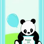 Panda Birthday Card Template | Birthdaybuzz   Panda Bear Invitations   Panda Bear Invitations Free Printable