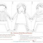 Paper Doll Chain Template   Google Search   Crafty   Paper Doll   Free Printable Paper Dolls From Around The World