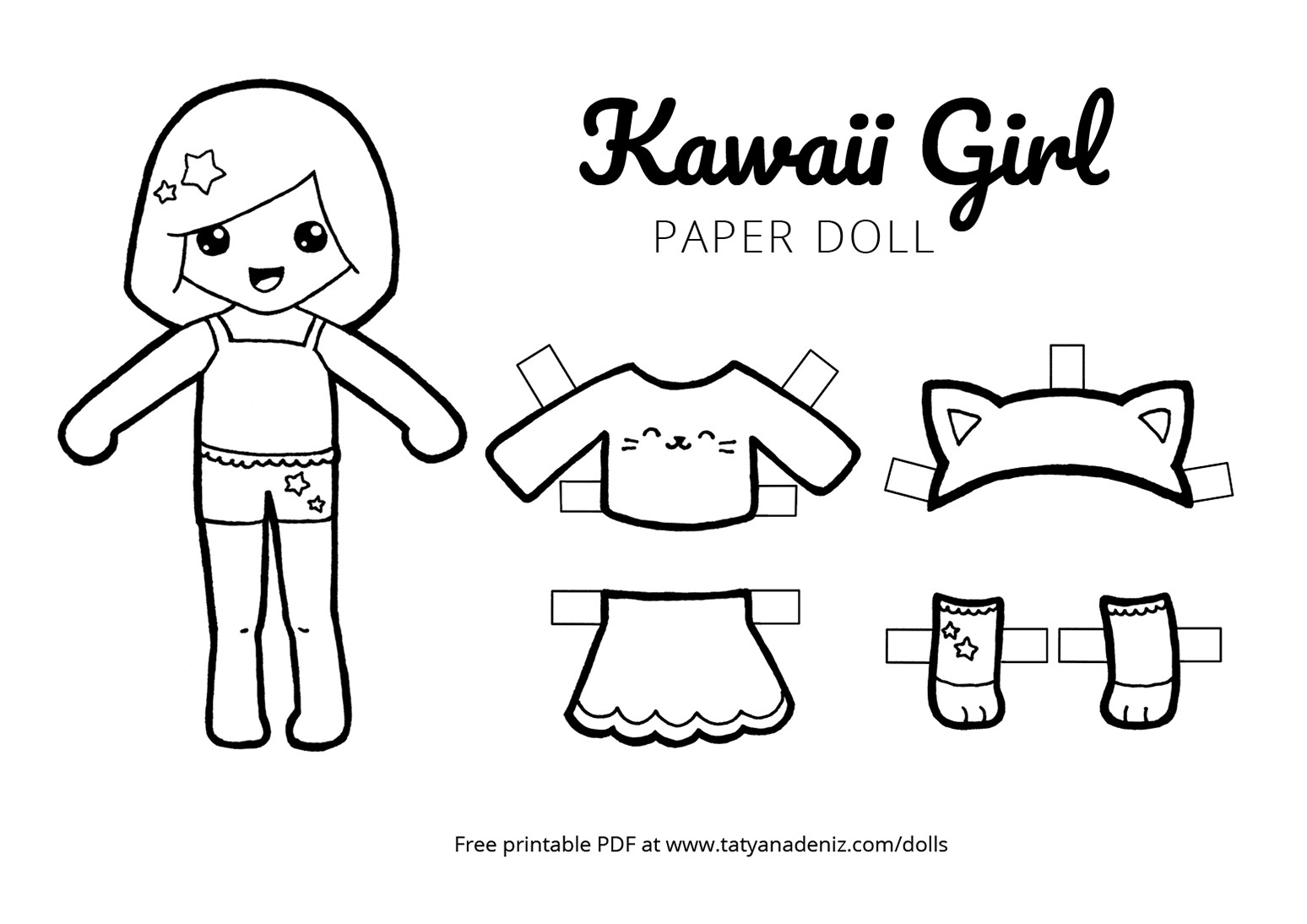 Paper Doll Clothes Coloring Pages – Salumguilher - Free Printable Paper Doll Coloring Pages