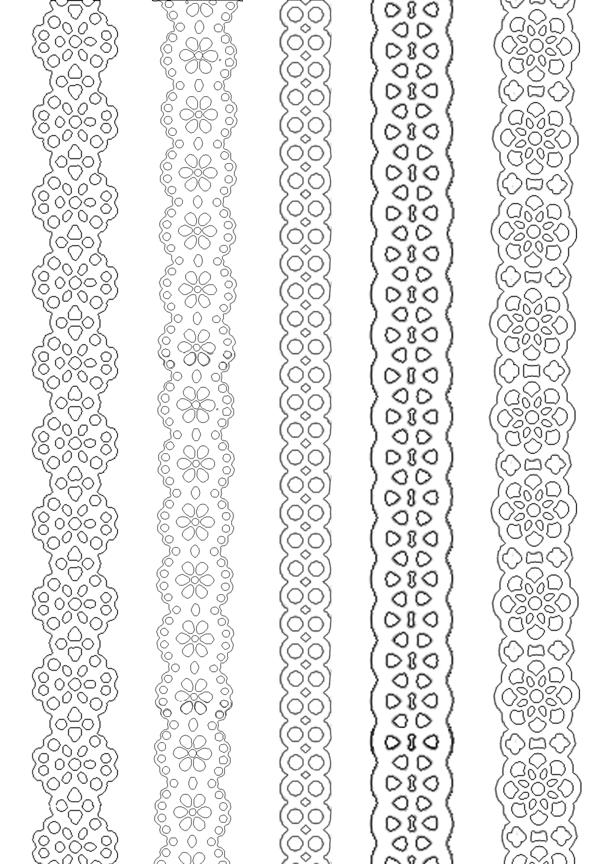Paper Lace Ribbons To Print And Paint Everywhere. | Painting - Free Printable Lace Stencil