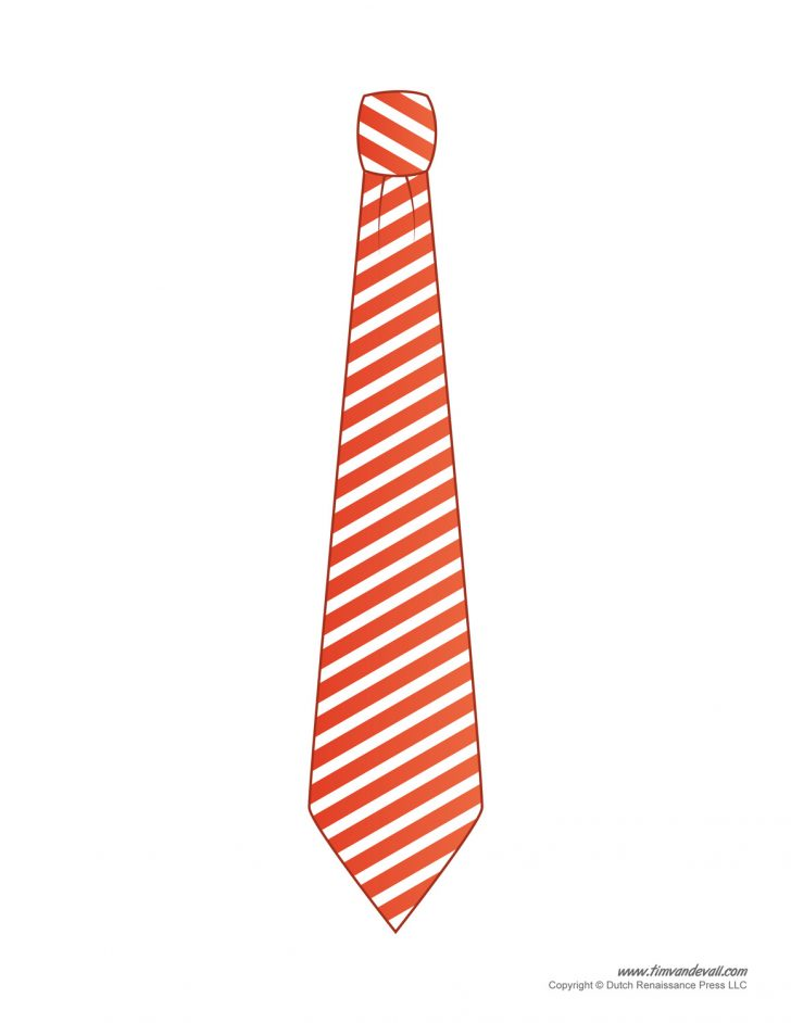 Free Printable Tie Template