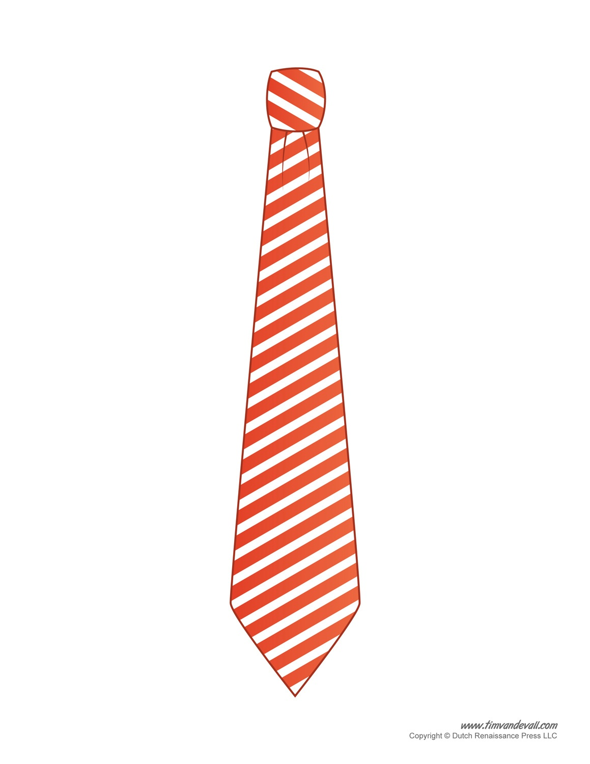 Paper Tie Templates For Kids - Free Printable Tie Template