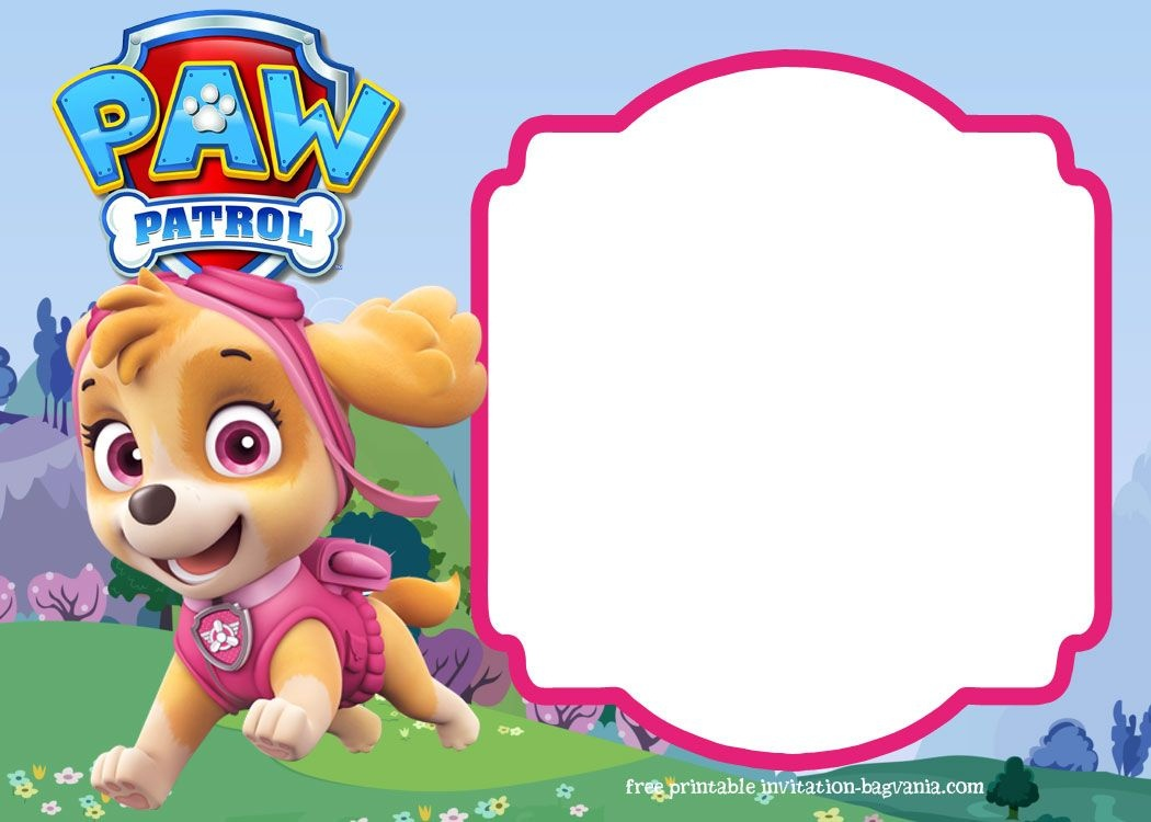 Paw Patrol Birthday Invitation Templates – Most Complete - Free Printable Paw Patrol Invitations