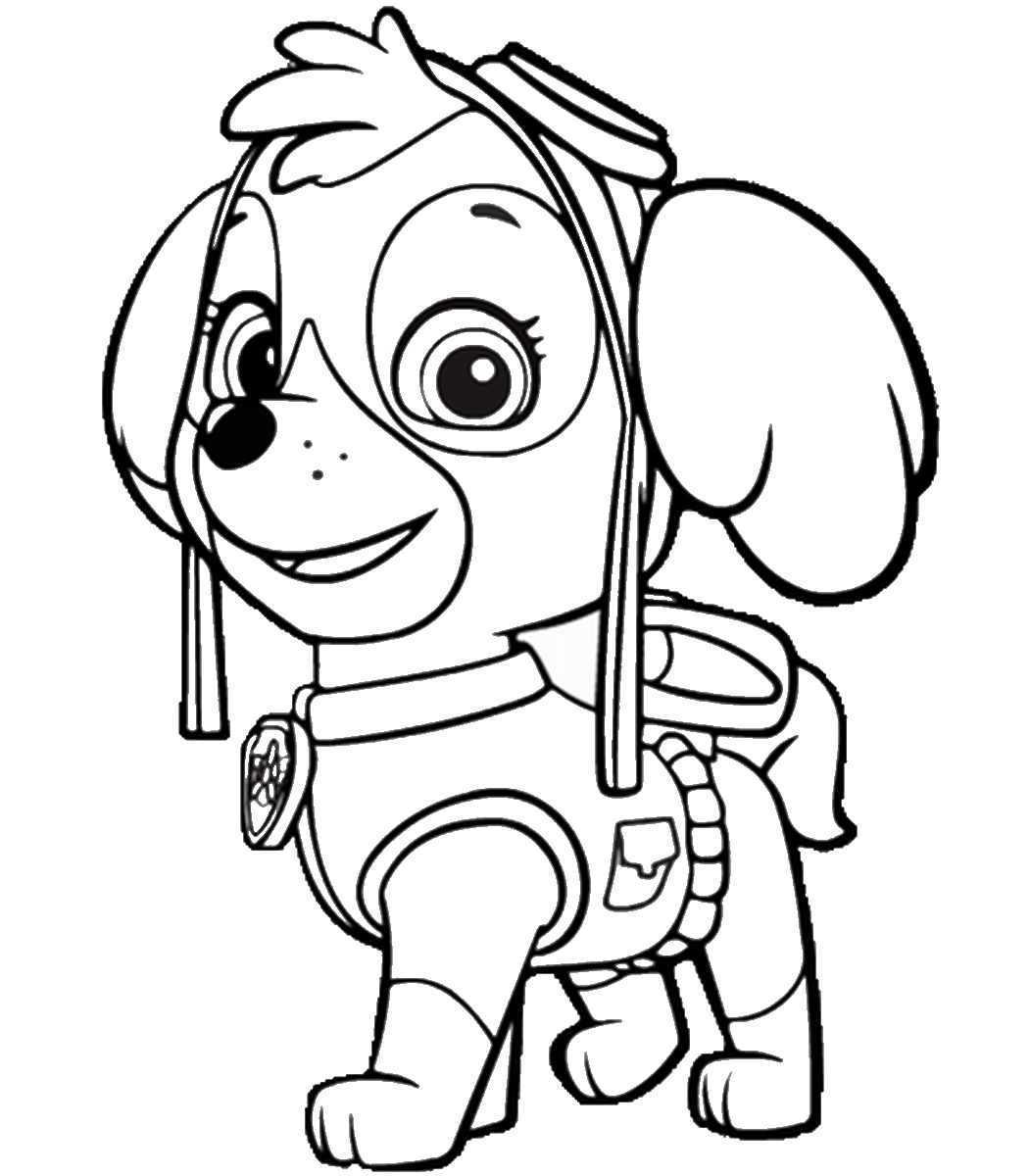 Paw Patrol Coloring Pages - Best Coloring Pages For Kids - Free Printable Paw Patrol Coloring Pages