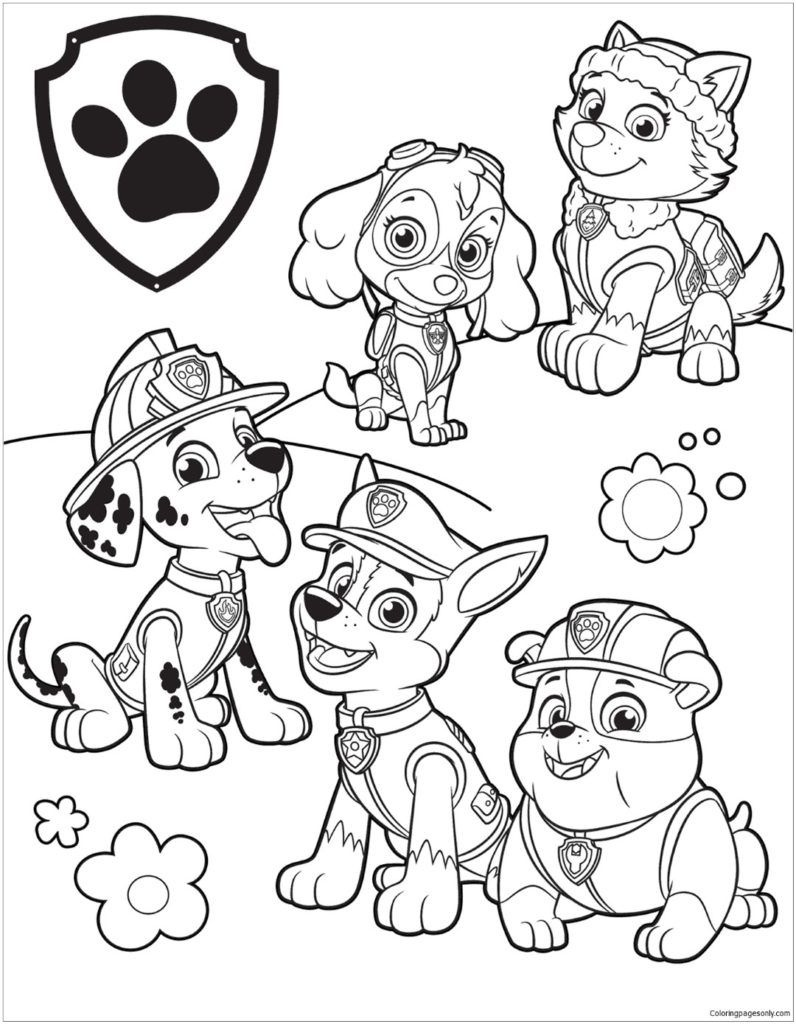 Paw Patrol Coloring Pages | Coloring Pages | Kleurplaten, Kleuren - Free Printable Paw Patrol Coloring Pages
