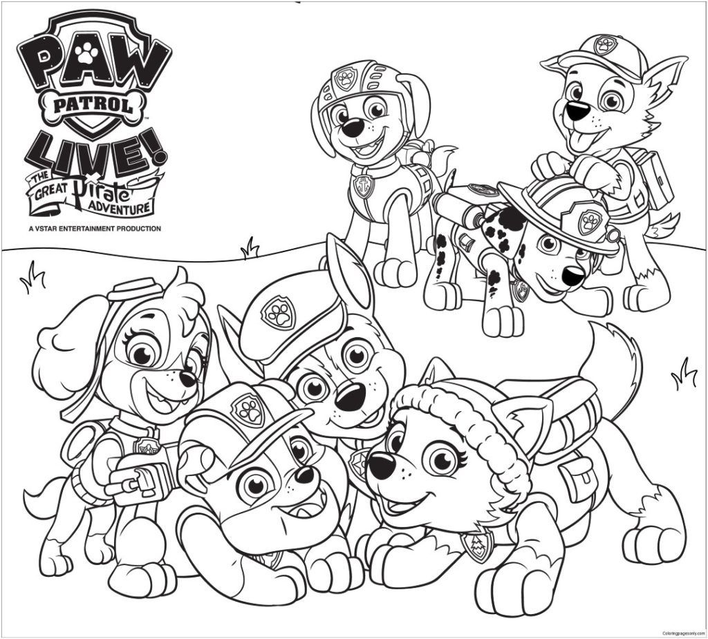 Paw Patrol Coloring Pages | Movies And Tv Coloring Pages | Paw - Free Printable Paw Patrol Coloring Pages