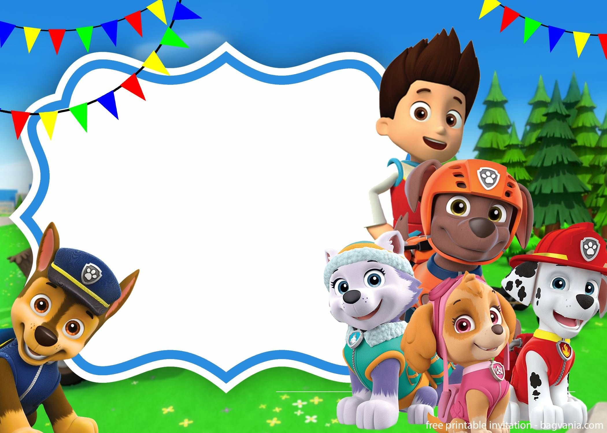 Paw Patrol Skye Invitation Template For Your Daughter's Birthday - Free Printable Paw Patrol Invitations