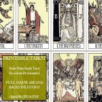 Pdf   Printable Tarot Cards   Rider Waite Major Arcana   Vintage   Free Printable Tarot Cards