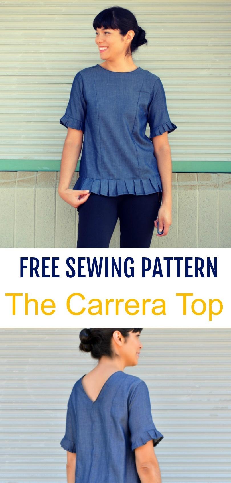 Pdf Sewing Pattern Printable Sewing Pattern For Women Printable - Free Printable Blouse Sewing Patterns