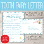 Personalized Tooth Fairy Letter Kit Boy Printable Download | Etsy   Tooth Fairy Stationery Free Printable