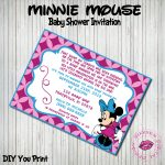 Photo : Make Your Own Minnie Mouse Image   Free Printable Minnie Mouse Baby Shower Invitations