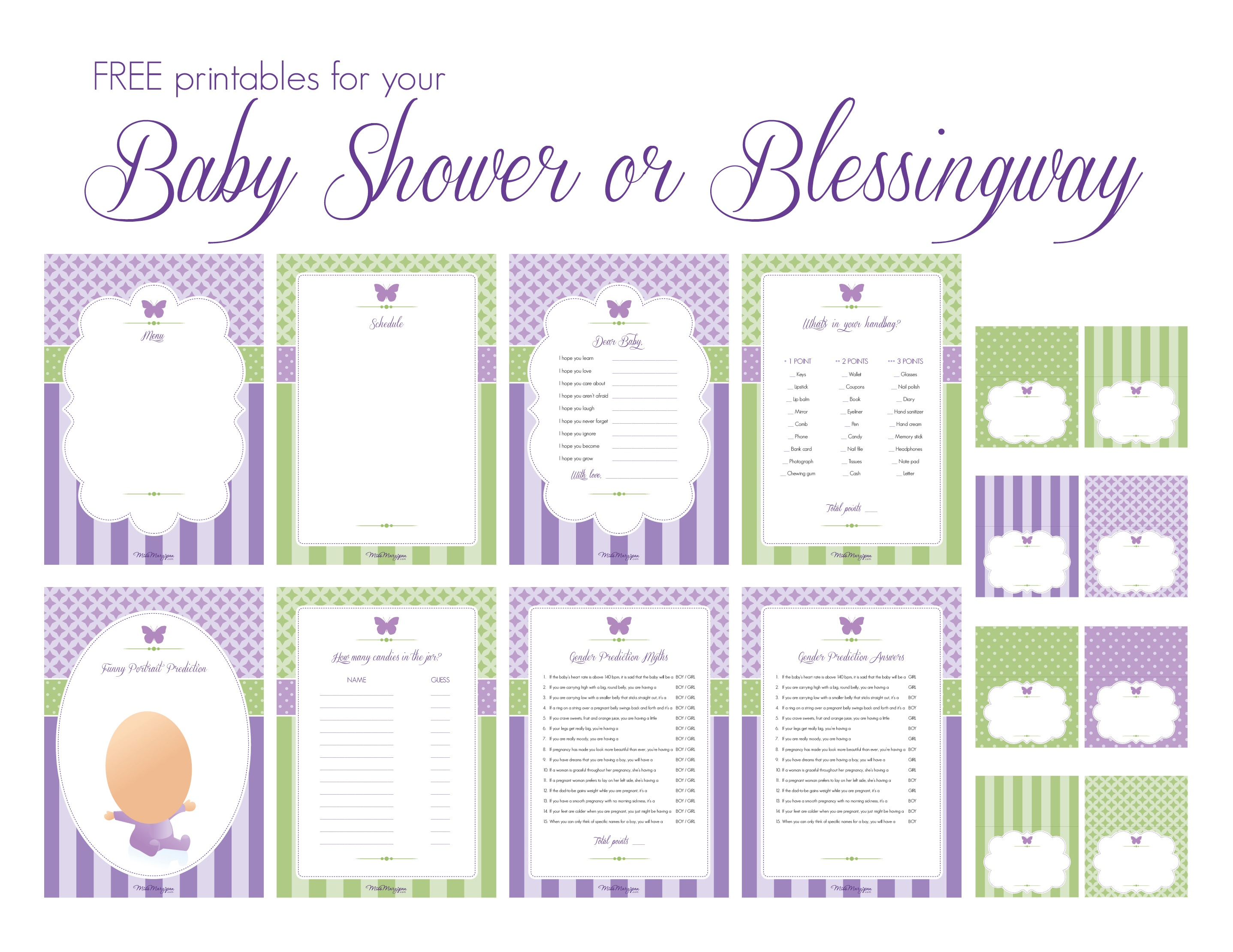 Photo : Printable Baby Shower Games Image - Free Printable Baby Shower Decorations For A Boy