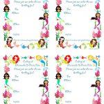 Pickled Okracharlie: Mermaid Bithday Party Invitations, Free   Mermaid Birthday Invitations Free Printable